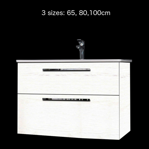 'Winner' Vanity and Sink - Pine-White