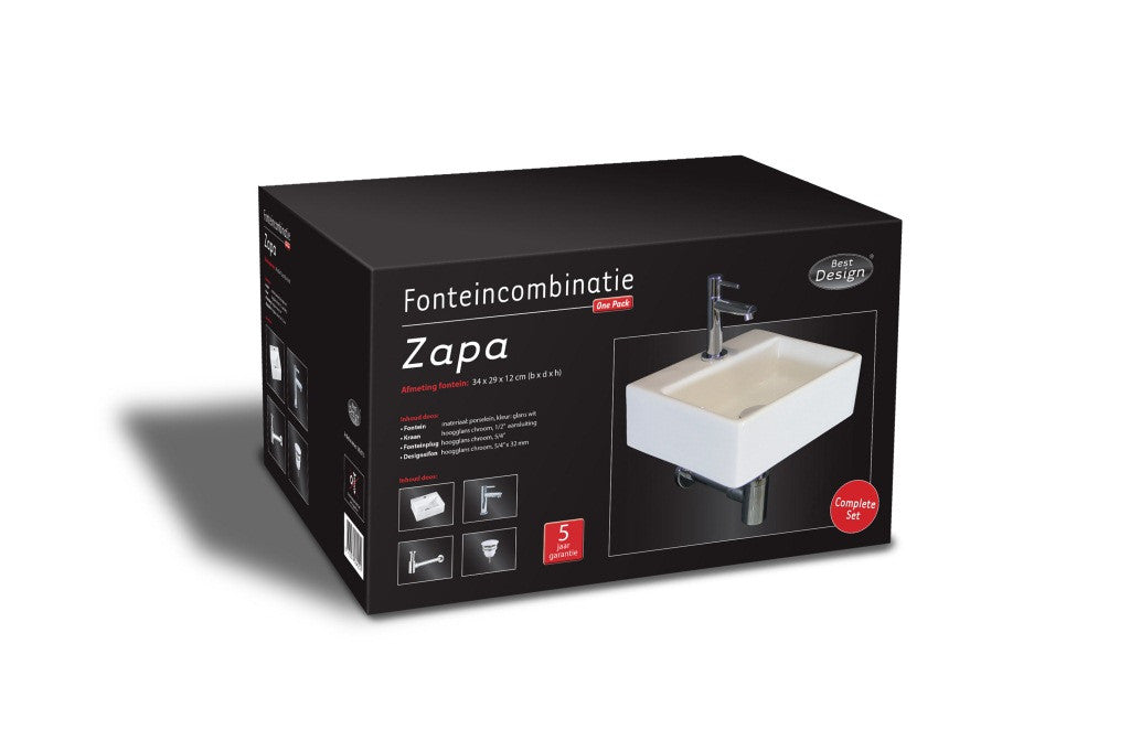 Ceramic sink Fountain One Pack 'Zappa' box