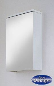 'Zip' LED Wood Mirror Cabinet 40 x 60 cm