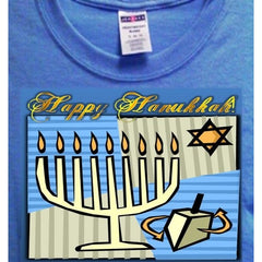 Happy Hannukah Blue T-Shirt