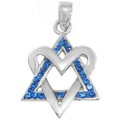 Love Israel?  Heart and Star Of David Pendant