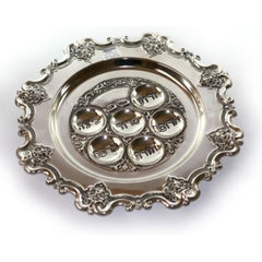 Silverplate Passover Pesach Seder Plate