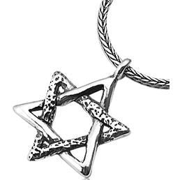 Star of David Necklace With Interwoven Triangles