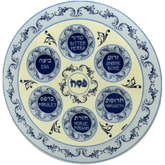 Traditional Passover Pesach Seder Plate