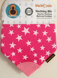 Chewing Bibs Pink Stars & Stripes - 2 Pack