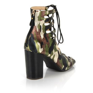 Camo Hailey Tie Up Heel - LIMITED EDITION