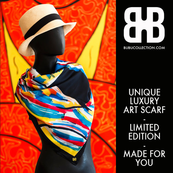 Strange Harmony - Unique Luxury Art Scarf - Limited Edition