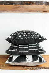 Tribal Textiles + Patternity Limited Edition for Selfridges - Crackle Connections cushion covers black & white colour
