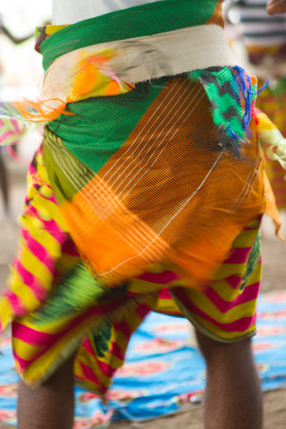 Tribal Textiles South Luangwa Zambia: Malaila dancers shaking bum
