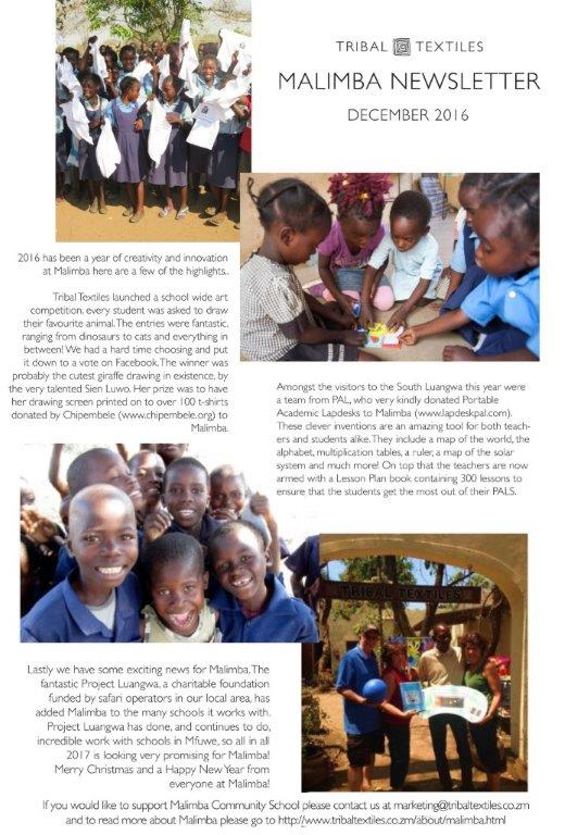 Malimba Primary School Newsletter