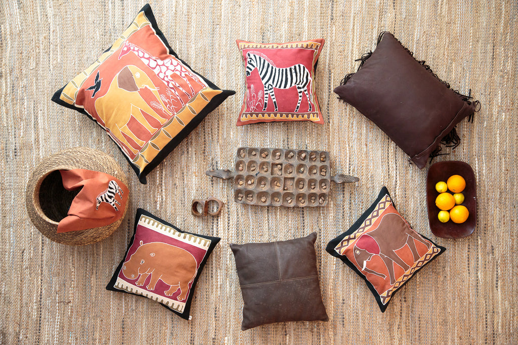 Cushion Covers ~ Safari Animals Giraffe Bushways