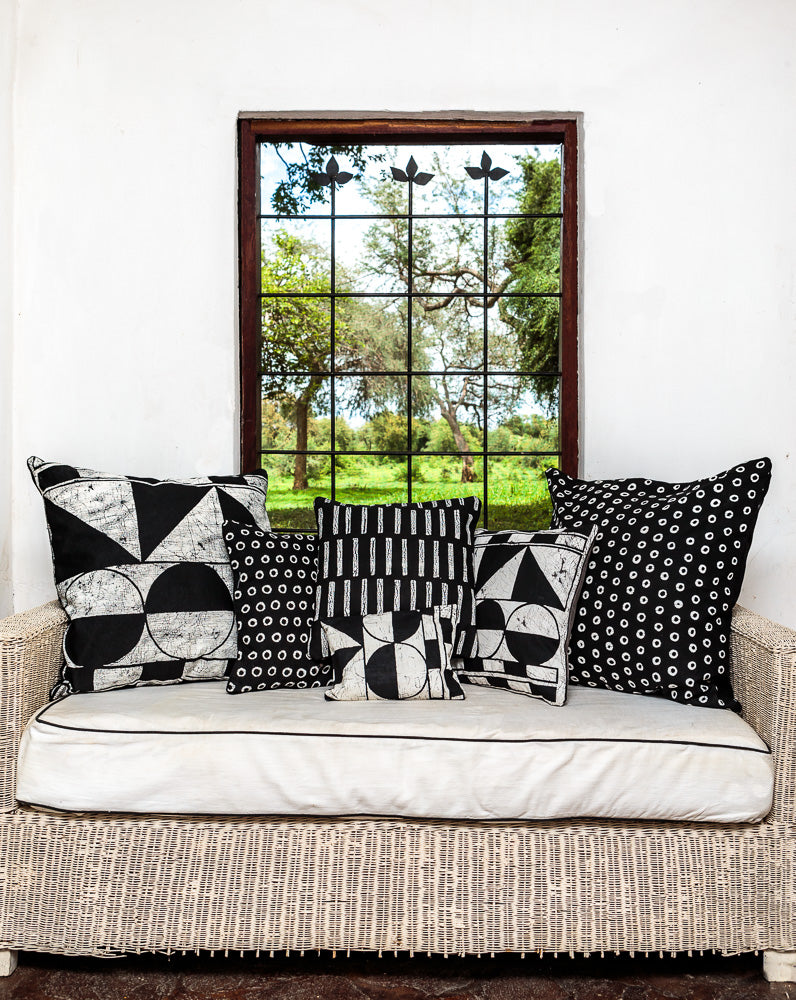 Crackle Connections Cushion Cover - Patternity x Tribal Textiles