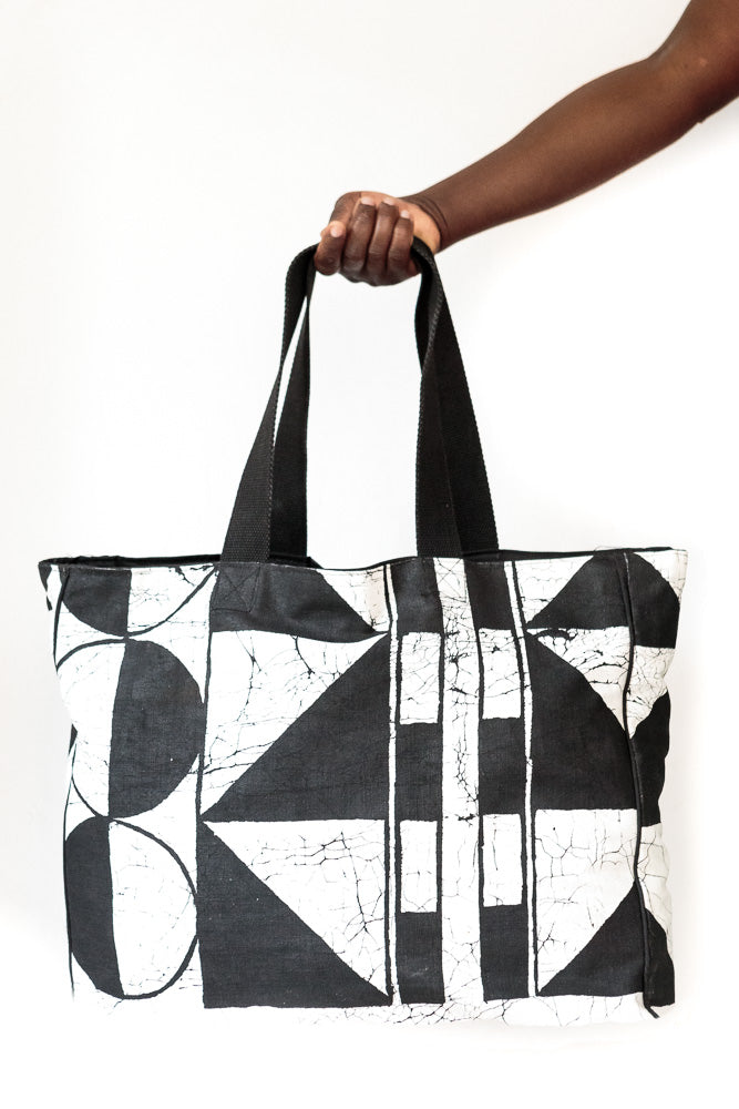 Gusset Tote Bags - Patternity x Tribal Textiles