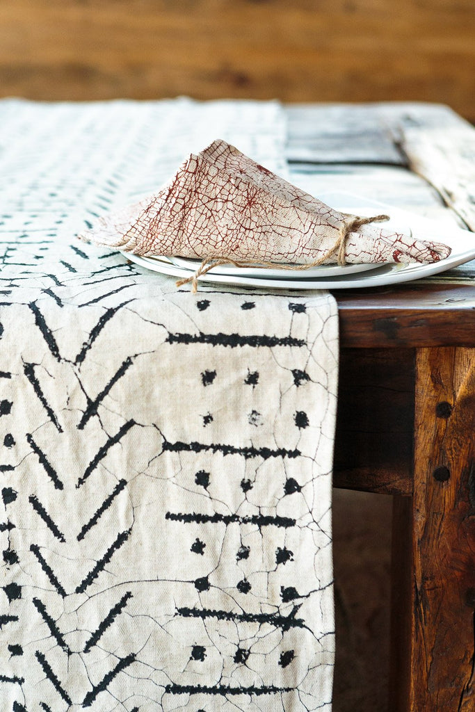 Table Runners - Matika - Linen Black
