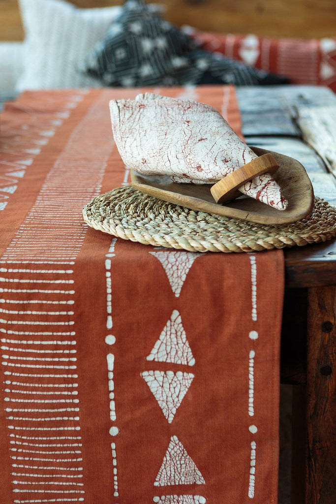 Table Runners - Matika - Rust Linear