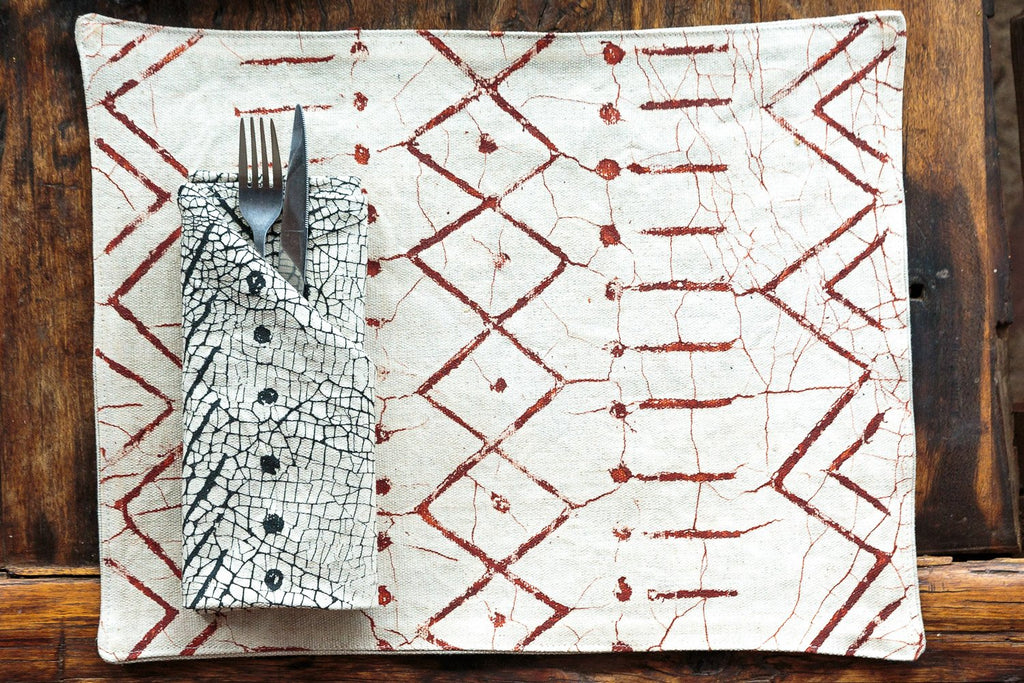 Table Mats - Matika - Linen Rust