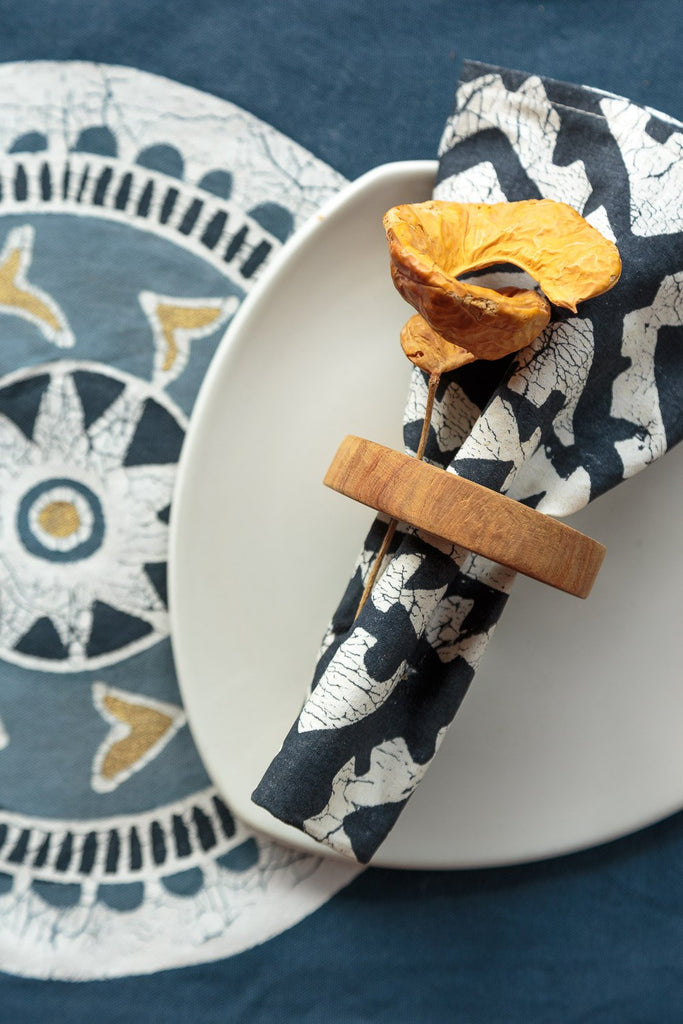 Table Runners - African Circles Indigo