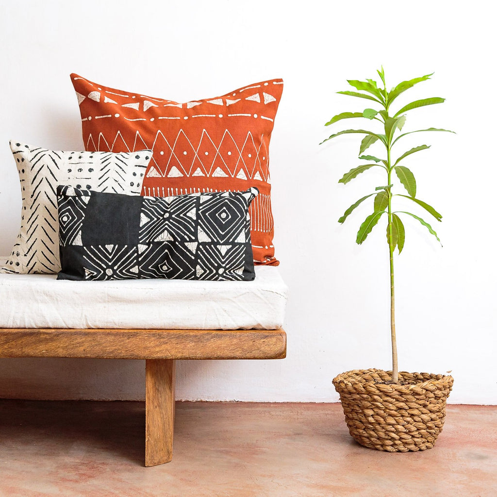 Throw Pillows - Matika - Rust Linear