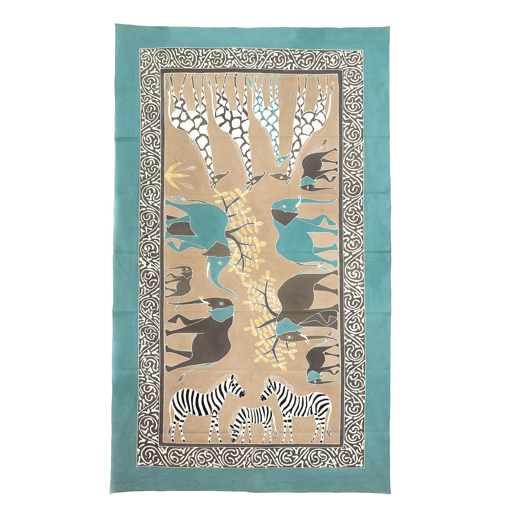 Tablecloths - Safari Animals Teal