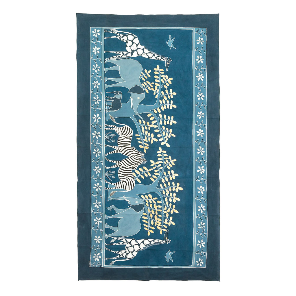 Safari Animals Indigo Tablecloth