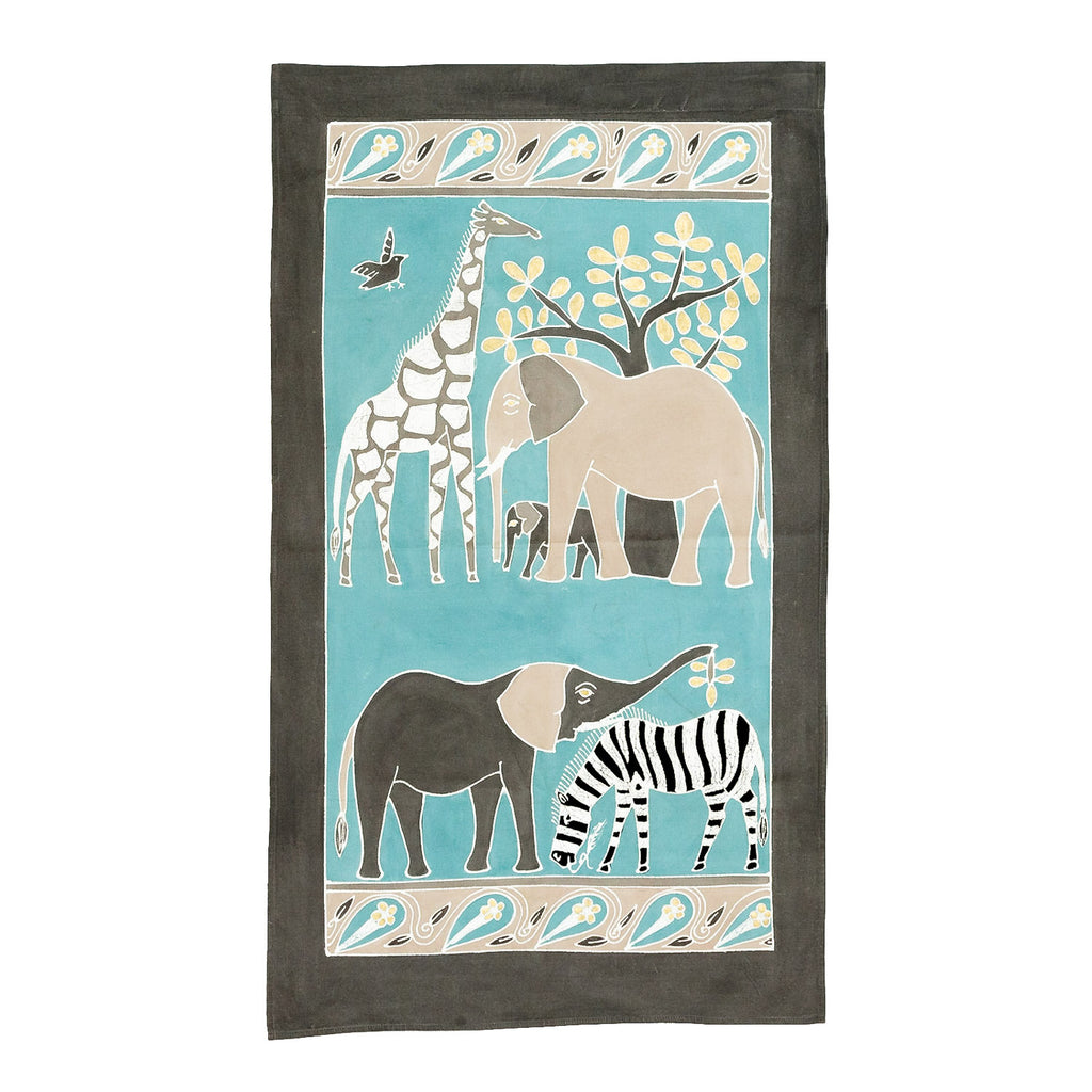 Wall Hangings - Safari Animals Teal