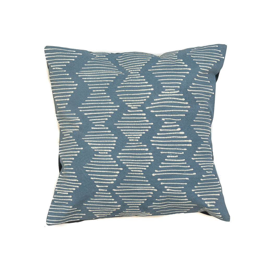 Pillow Case Indigo Tribal Cloth Line Waves