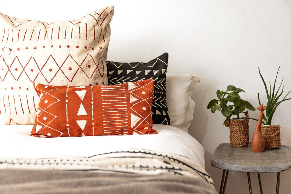 Throw Pillows - Matika - Linen Rust