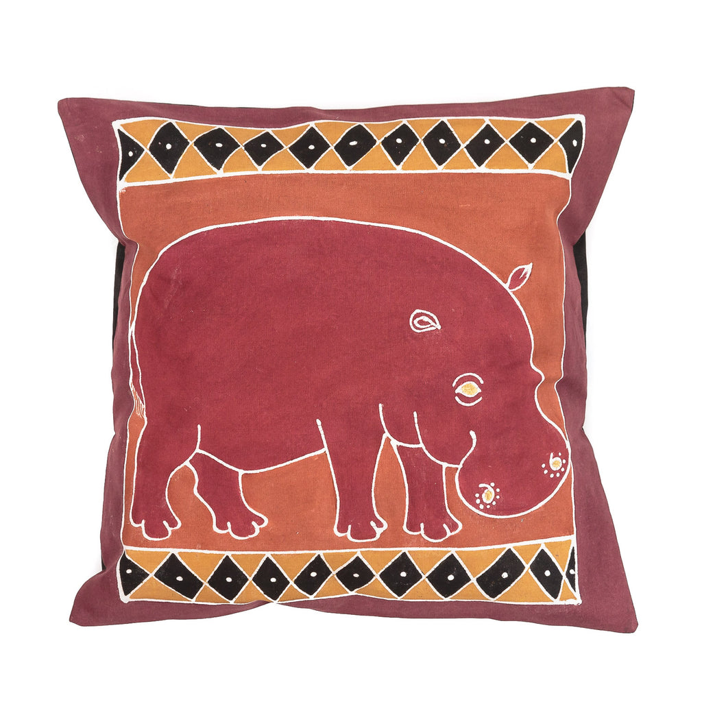 Cushion Covers ~ Safari Animals Hippo Bushways