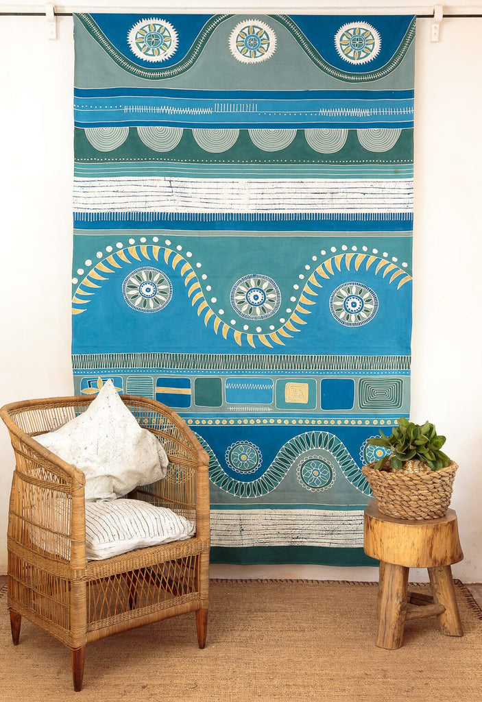 Mali Aqua Hills Tablecloth