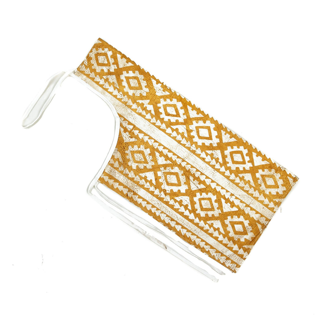 Apron with yellow african print