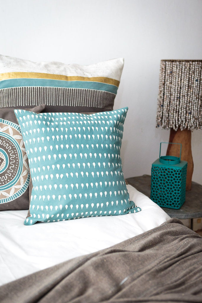 Throw Pillows - Boho Teal Kalabash