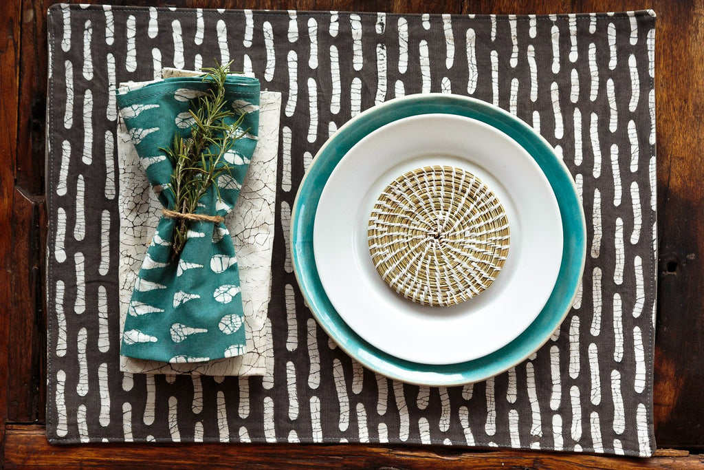 Table Mats - Boho Teal Assorted