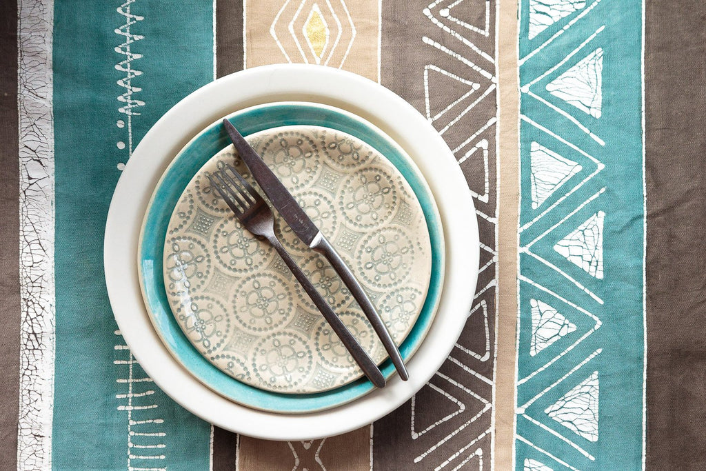 Table Mats - Boho Teal Multiprint