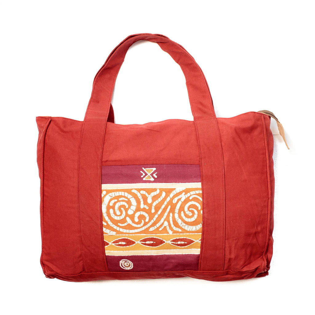 Hand-painted, fair-trade Safari Carry All Bags Tribal Textiles, rural Zambia.