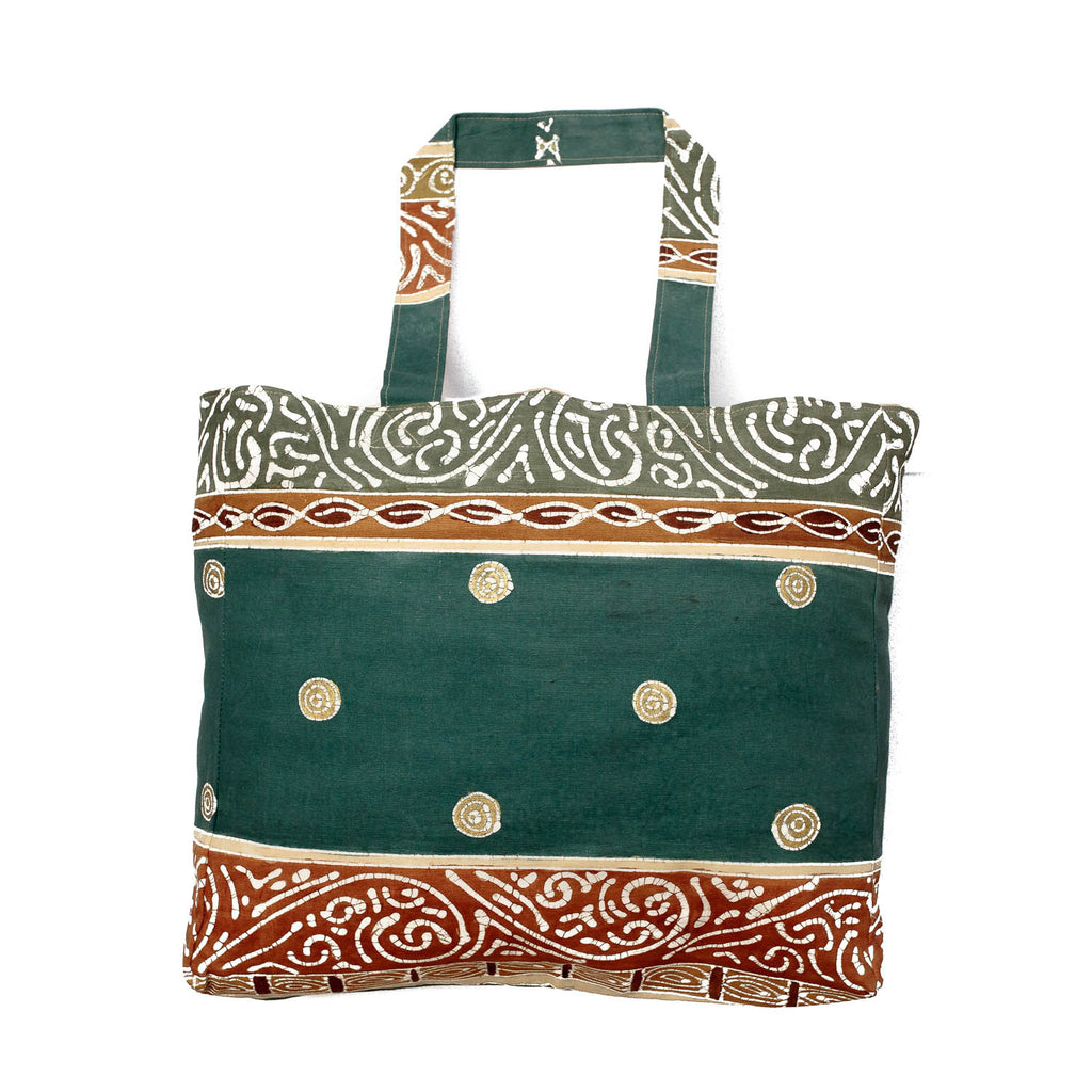 Fair-trade shopping bag in African print design