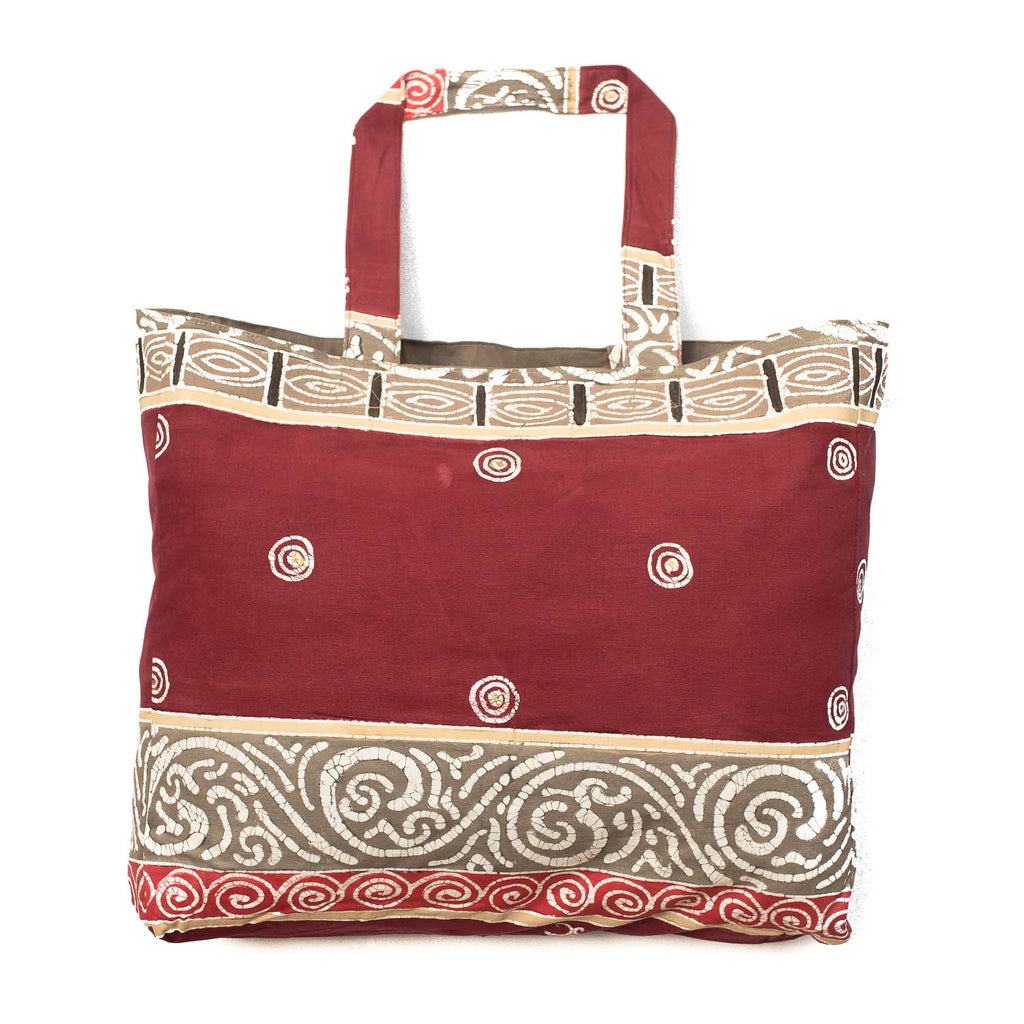 Hand-painted, fair-trade Contemporary Carry All Bags Tribal Textiles, rural Zambia.