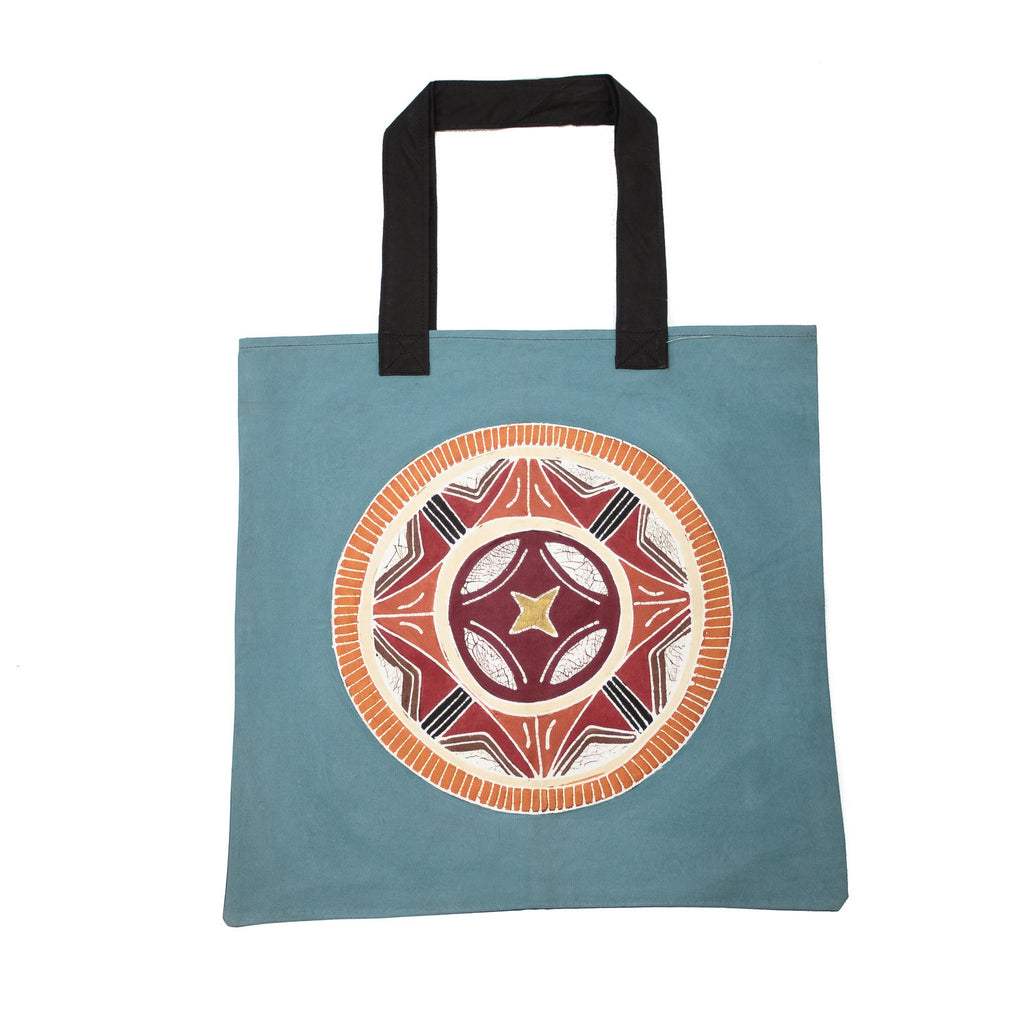 African Hand-painted Bag with Circles