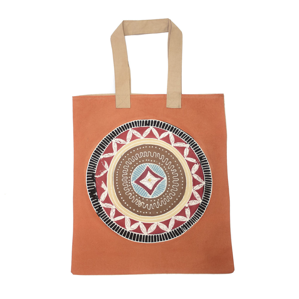 African Hand-made Bag with Circles motifs