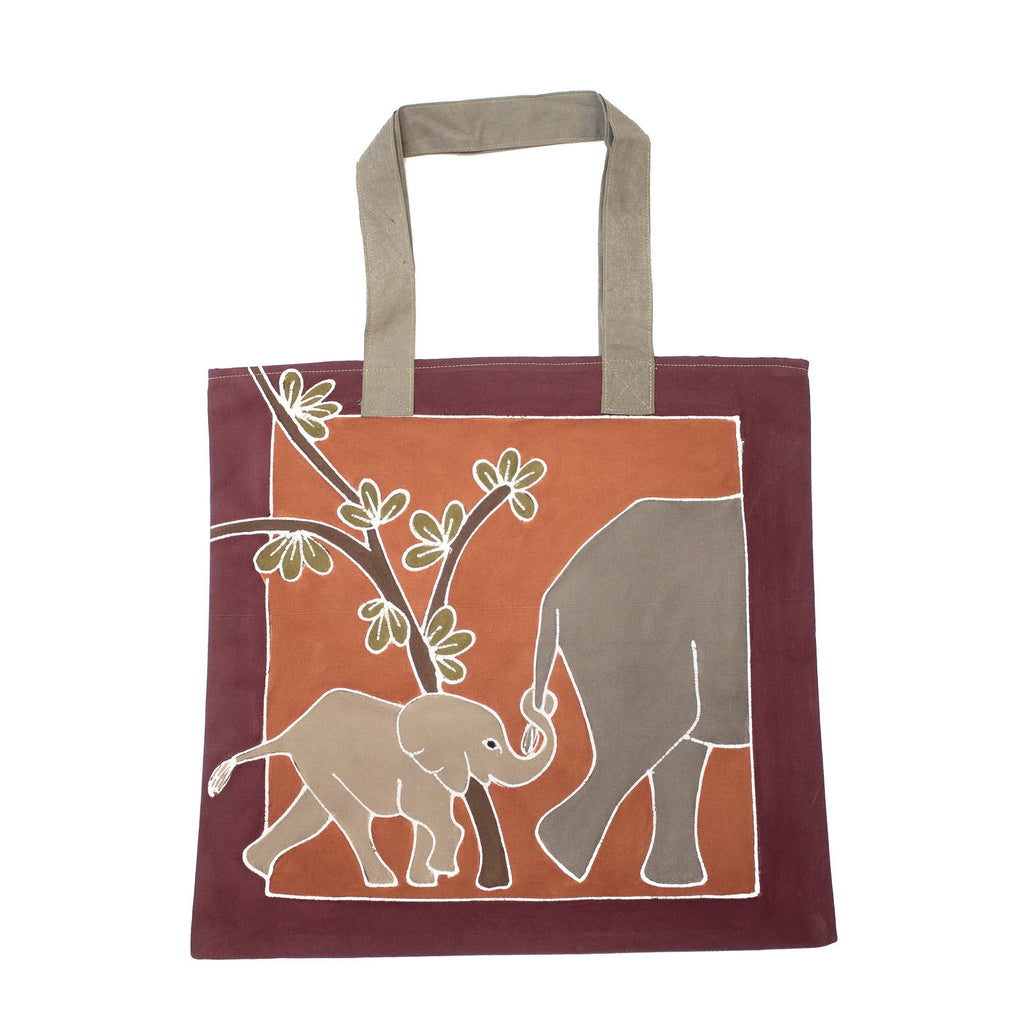 Contemporary Cushion Cover Bags with elephants
