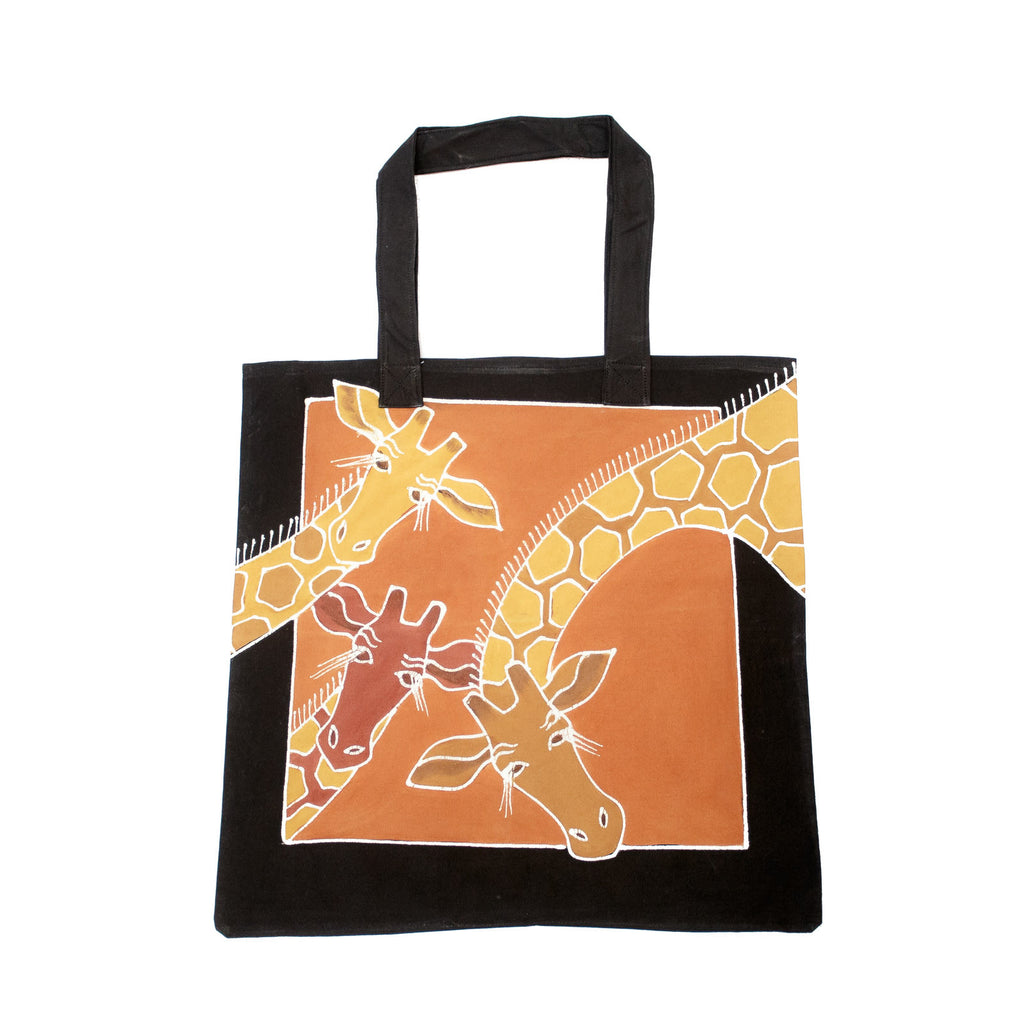 Bag with hand-painted giraffes
