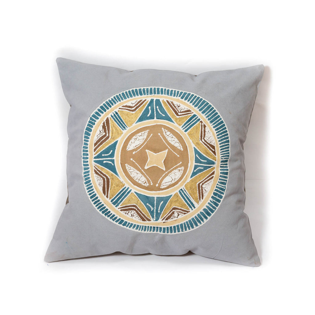 Hand-painted, fair-trade Cushion Covers ~ African Circles Tribal Textiles, rural Zambia.