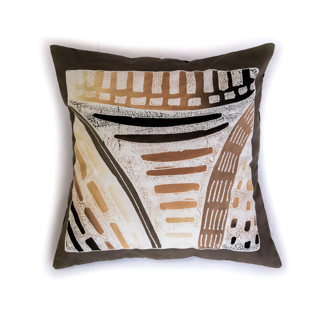 Hand-painted, fair-trade Cushion Covers ~ Honeycomb Tribal Textiles, rural Zambia.