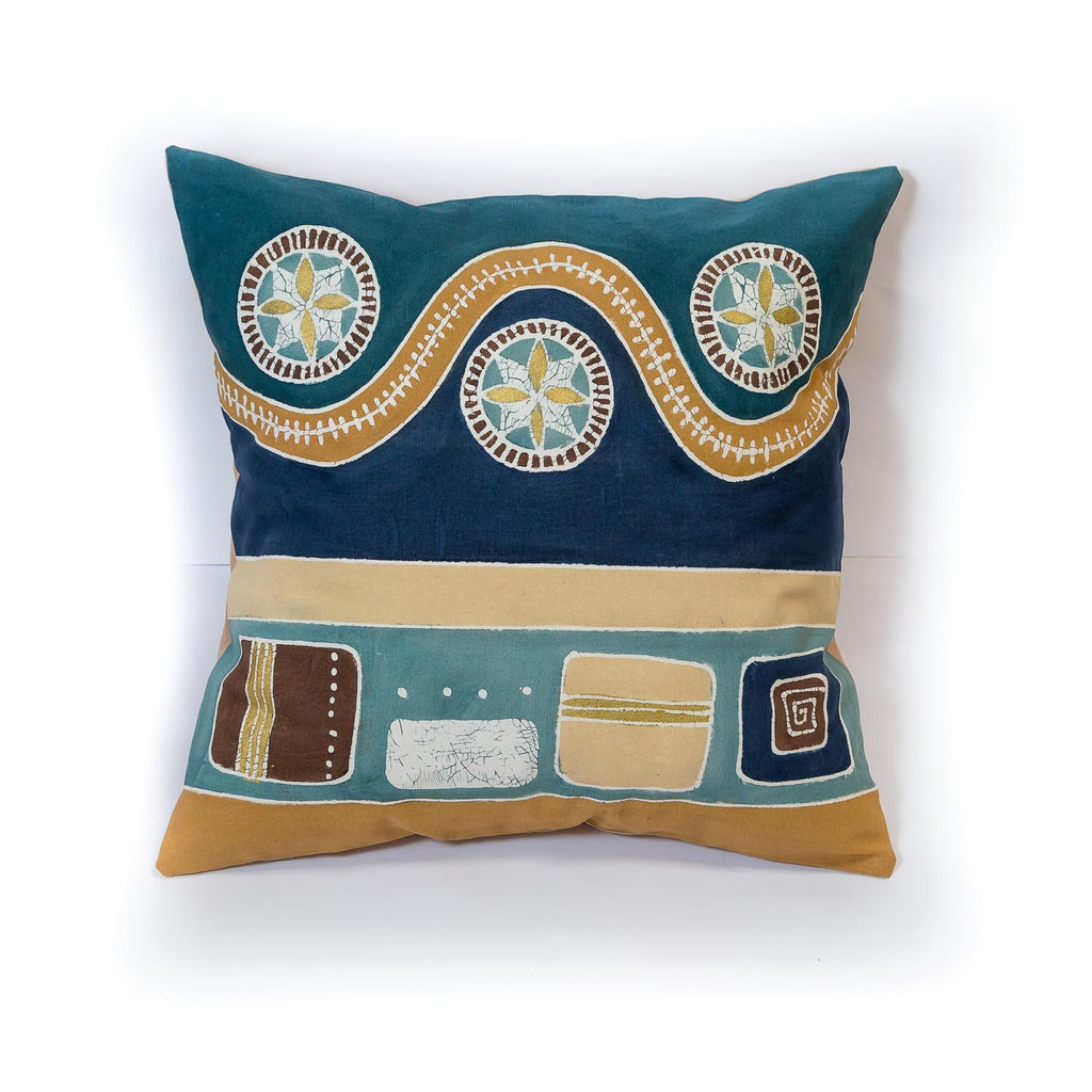 Mali inspired African print pillow