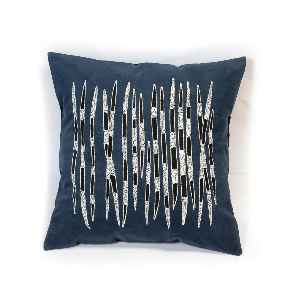 African Hand-painted cushion cover with quill design