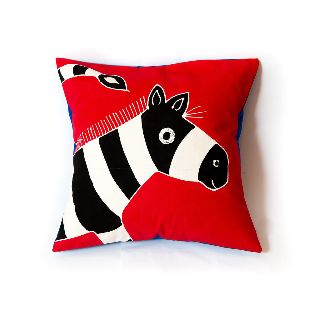 Zebra cushion cover for kids