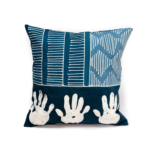 Cushion Covers ~ Tribal Cloth Indigo Intense