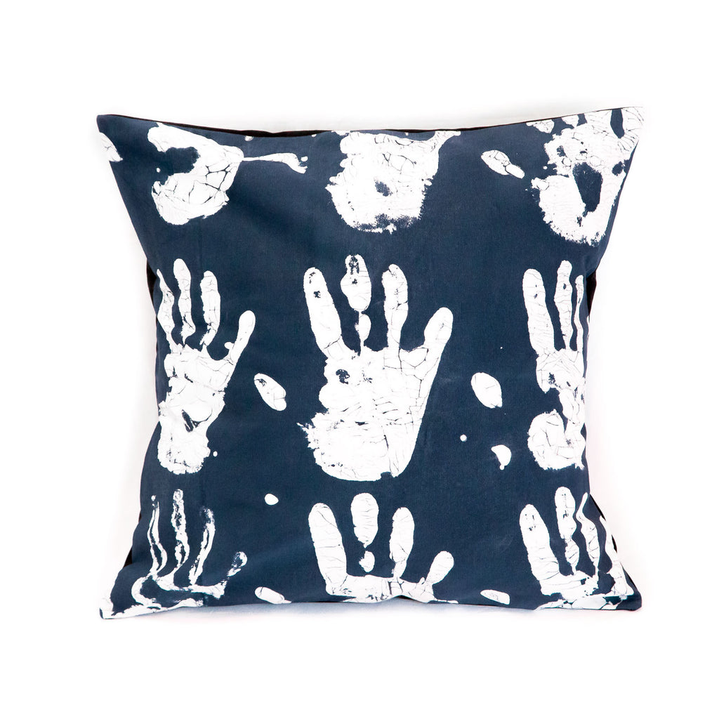 Hand-painted indigo Cushion Covers