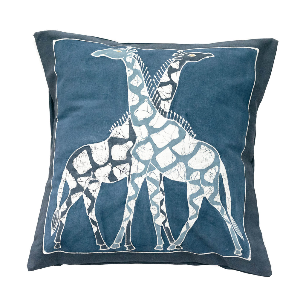 Various Animals Cushion Cover Indigo
