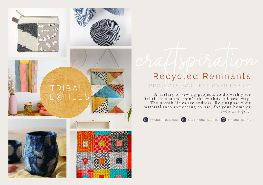 How to use recycled fabric remnants, Inspiration Board for Crafts Projects by Tribal Textiles