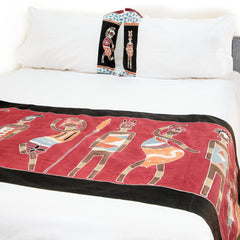 Hand-painted, fair-trade Duvet Covers ~ Ladies and Warriors Tribal Textiles, rural Zambia.